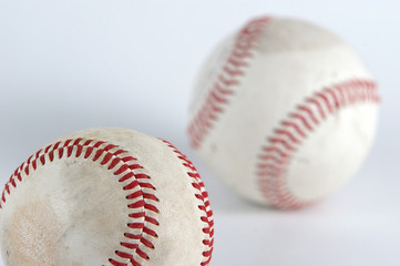 baseball balls on white background