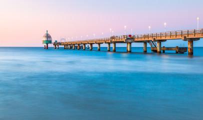 Abendstimmung Seebrücke Zinnowitz