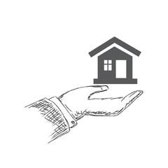 real, estate, technology, accomodation, concept, hand, sketch
