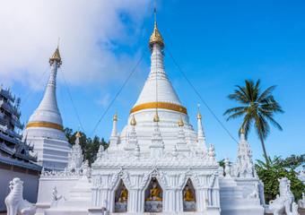 Phra That Doi Kongmu pagoda at Phra That Doi Kongmu temple in Ma