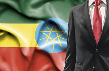 Man in suit from Ethiopia