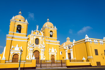 Yellow Cathedral in Trujillo, Peru