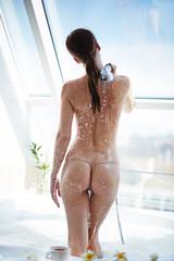 Taking shower