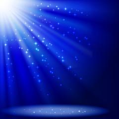 Foto op Plexiglas Licht, schaduw Blue abstract background