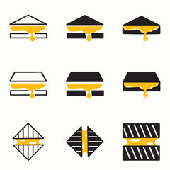 Grilled Cheese icons set