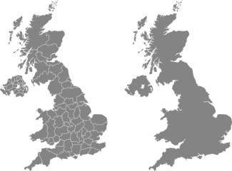 map of united kingdom Wall mural