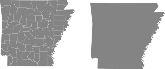 map of Arkansas