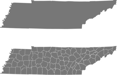 map of Tennessee