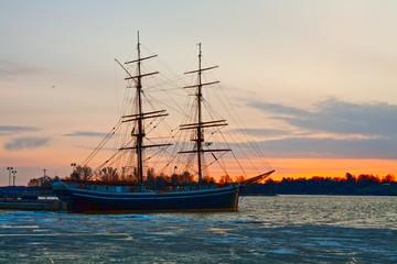 Dawn on gulf of Finland