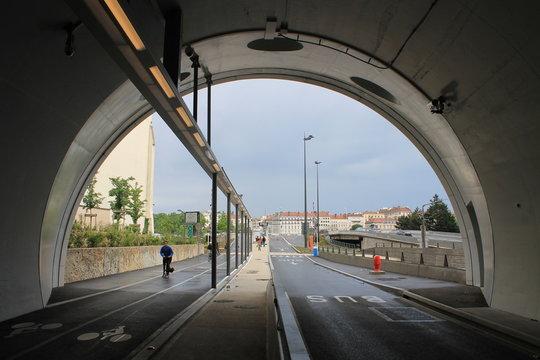 Tunnel de la Croix Rousse à Lyon