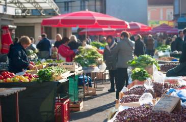 Food market, Croatia