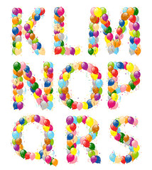 Decorative balloons letters