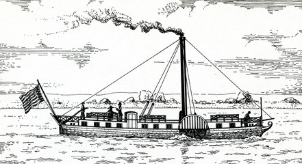 "First german paddle steamer ""Die Weser"""
