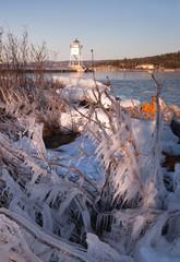 Grand Marais Light Lake Superior Cook County Minnesota USA