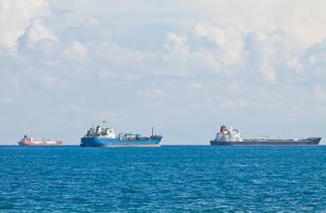 Ships in Mediterranean sea near Cyprus