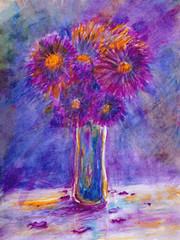 Watercolor Still Life Flowers