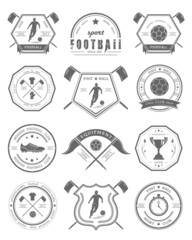 Vector Set of Football Badge