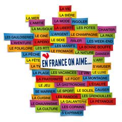 Carte France Pinceau