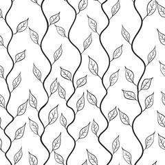 Vector A seamless pattern with leaf 1