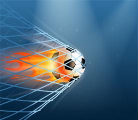 fire soccer goal