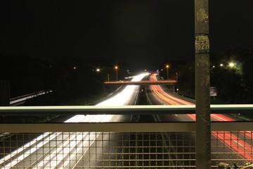 A beautiful night on the motorway