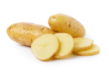 fresh potato isolated on a white background
