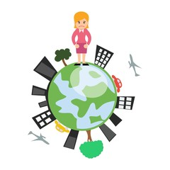 Business woman in Ecology business