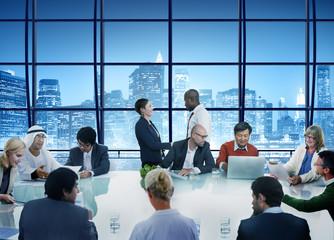 Business People Handshake Meeting Corporate Working Concept