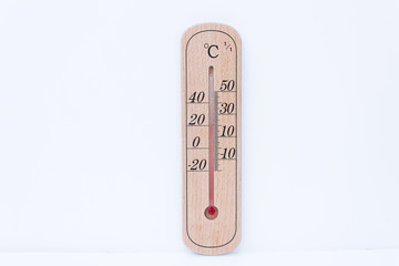 thermometer scale isolated
