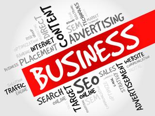 BUSINESS word cloud, business concept