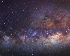 The center of the milky way galaxy, Long exposure photograph