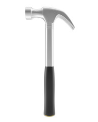 Hammer isolated on white background, with shadow. The tool for