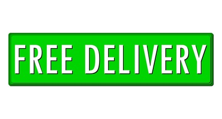 Free Delivery Green Horizontal