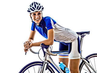 Canvas Prints Cycling woman triathlon ironman athlete cyclist cycling