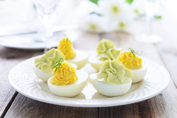 Festive appetizer from eggs