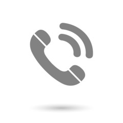flat call-phone icon background