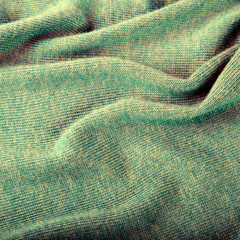 green crumpled luxury cashmere background
