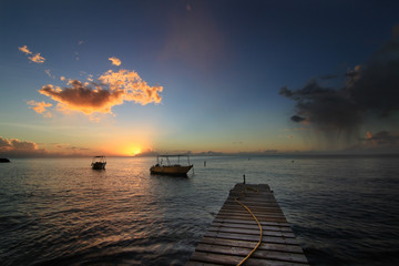 Sunset in Dominica island