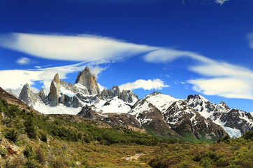 Beautiful nature landscape with Mt. Fitz Roy