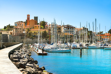 Wall Mural - Waterfront of small town of Talamone. Grosseto region, Tuscany,