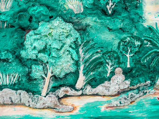 The Promise Island Art of concrete painting beach