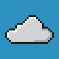 Cloud icon, pixel art