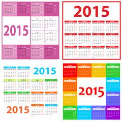 calendar grid 2015