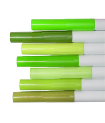 green markers