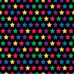 seamless stars pattern in retro color