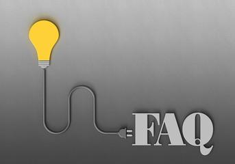 Fototapeta FAQ - Lampe - Stecker D obraz