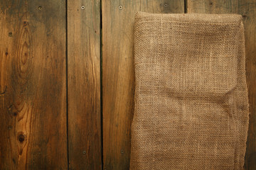 Wood and jute texture/Background
