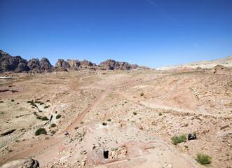 Siq canyon. Hidden city of Petra, Jordan.