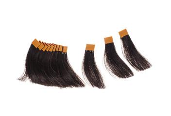 brown hair samples - Stock image