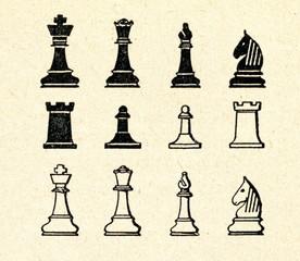 Original Staunton chess pieces